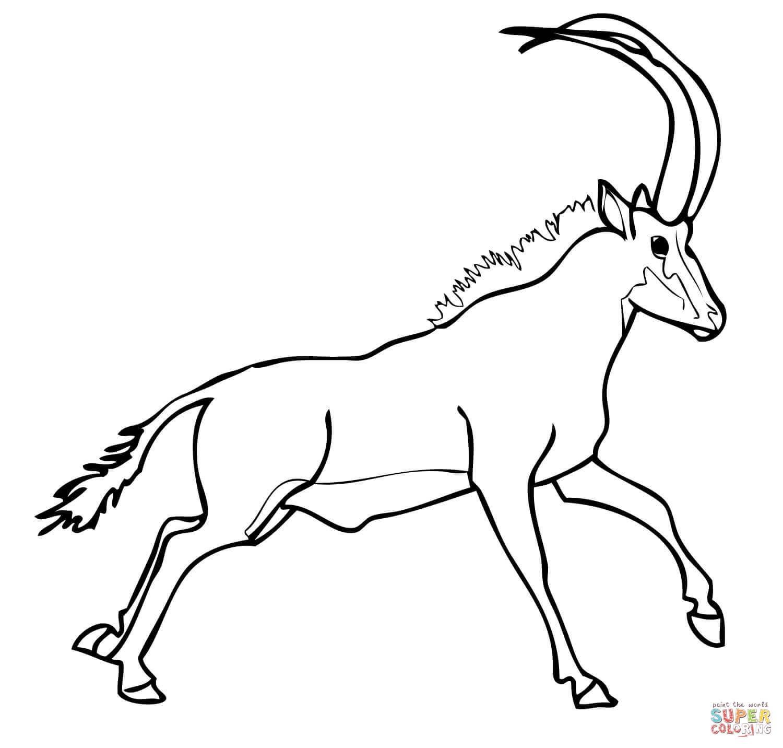 Blue Wildebeest coloring #2, Download drawings