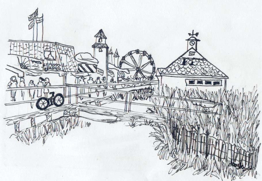Boardwalk Coloring Page