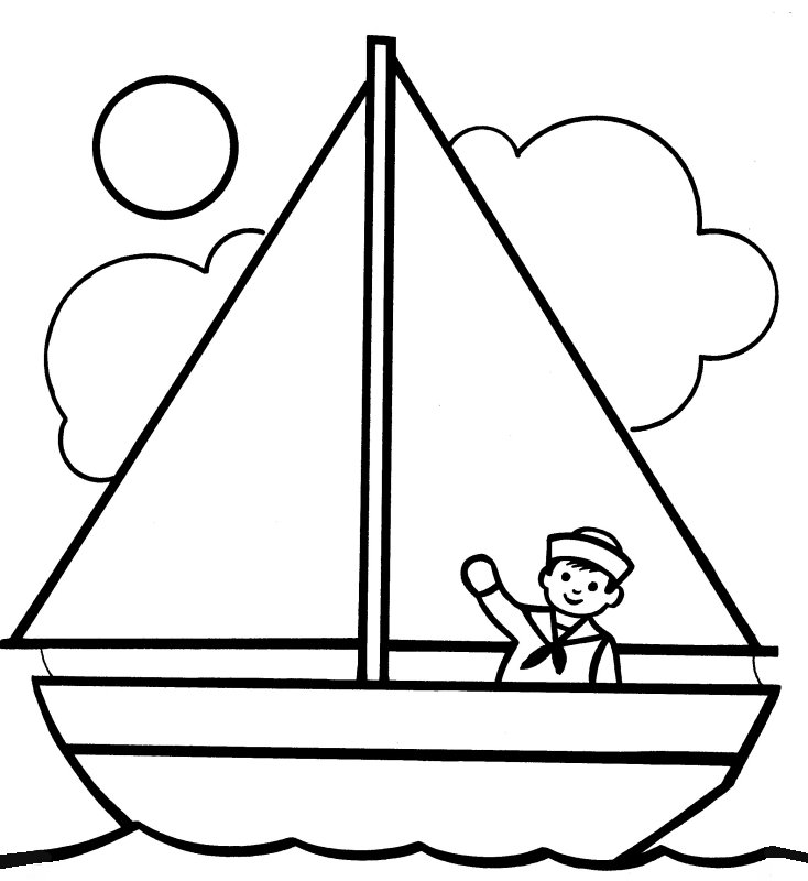 Boat coloring #19, Download drawings