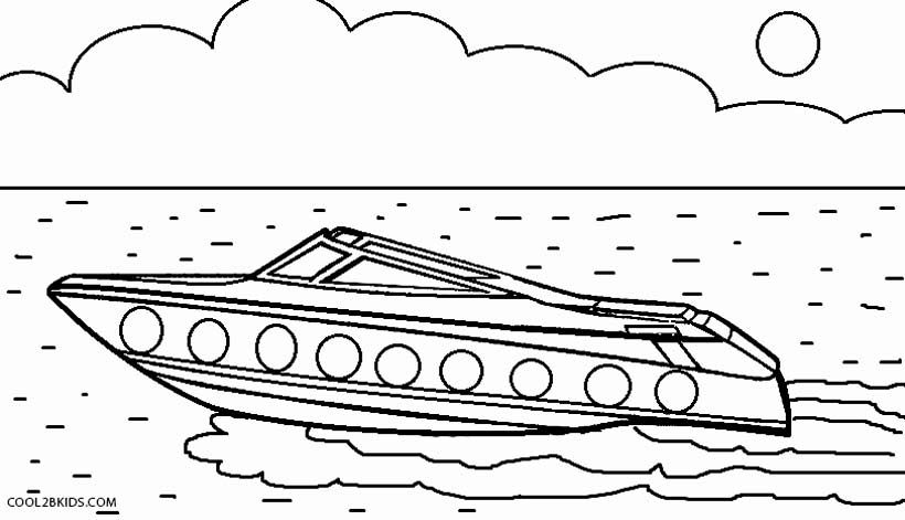 Boat coloring #14, Download drawings