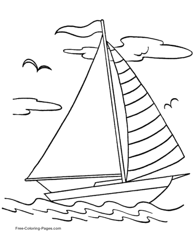 Boat coloring #15, Download drawings
