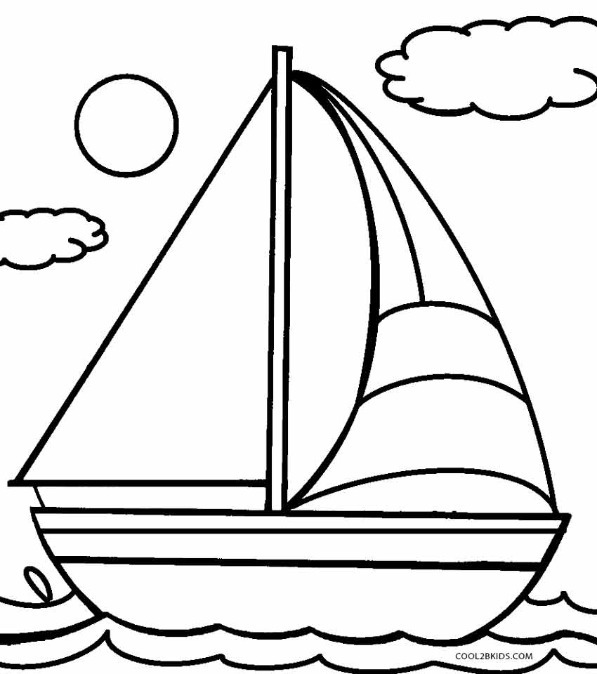 Sailboat coloring #19, Download drawings