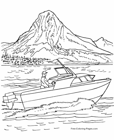 Boat coloring #1, Download drawings