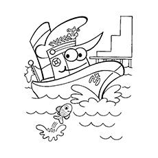 Boat coloring #7, Download drawings