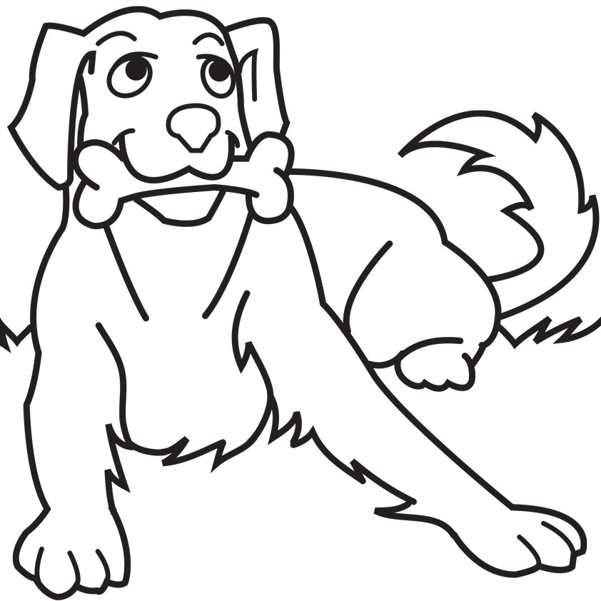 Dog coloring #6, Download drawings