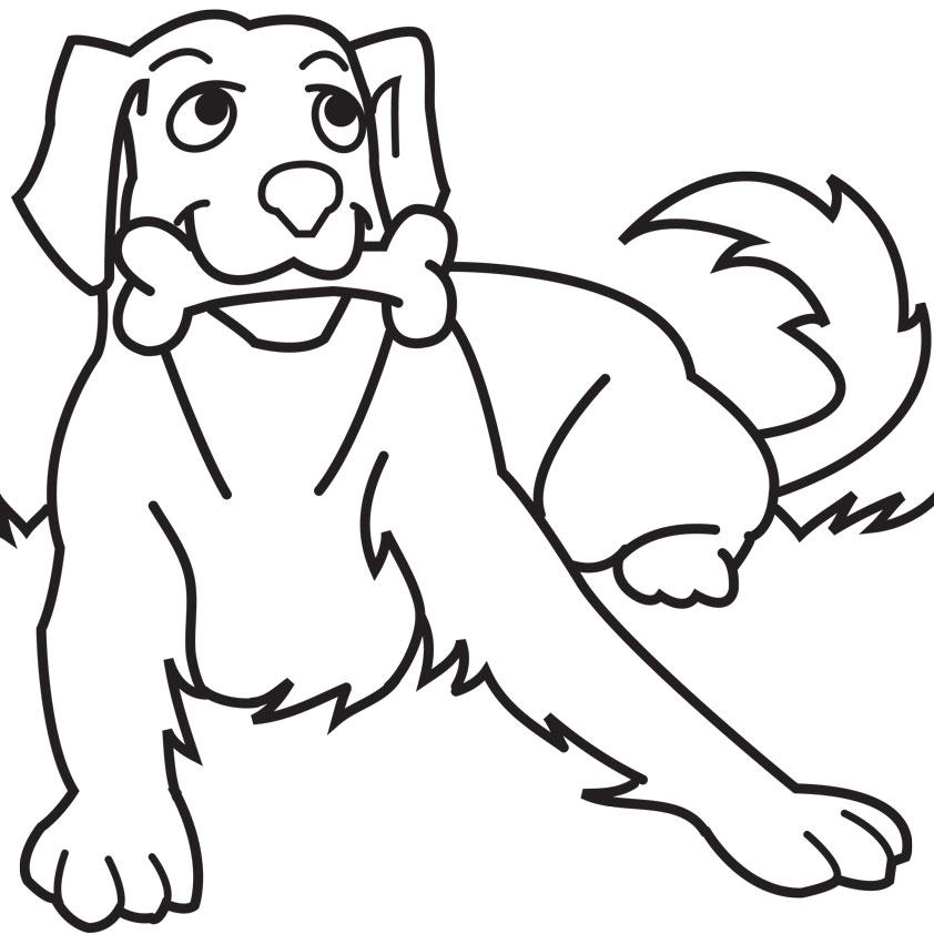 Dog coloring #6, Download drawings