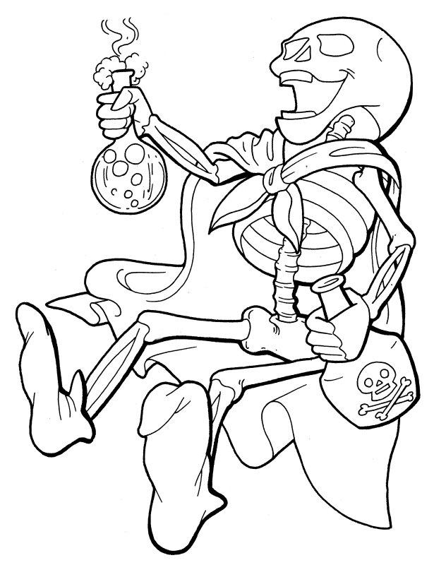 Sleleton coloring #11, Download drawings