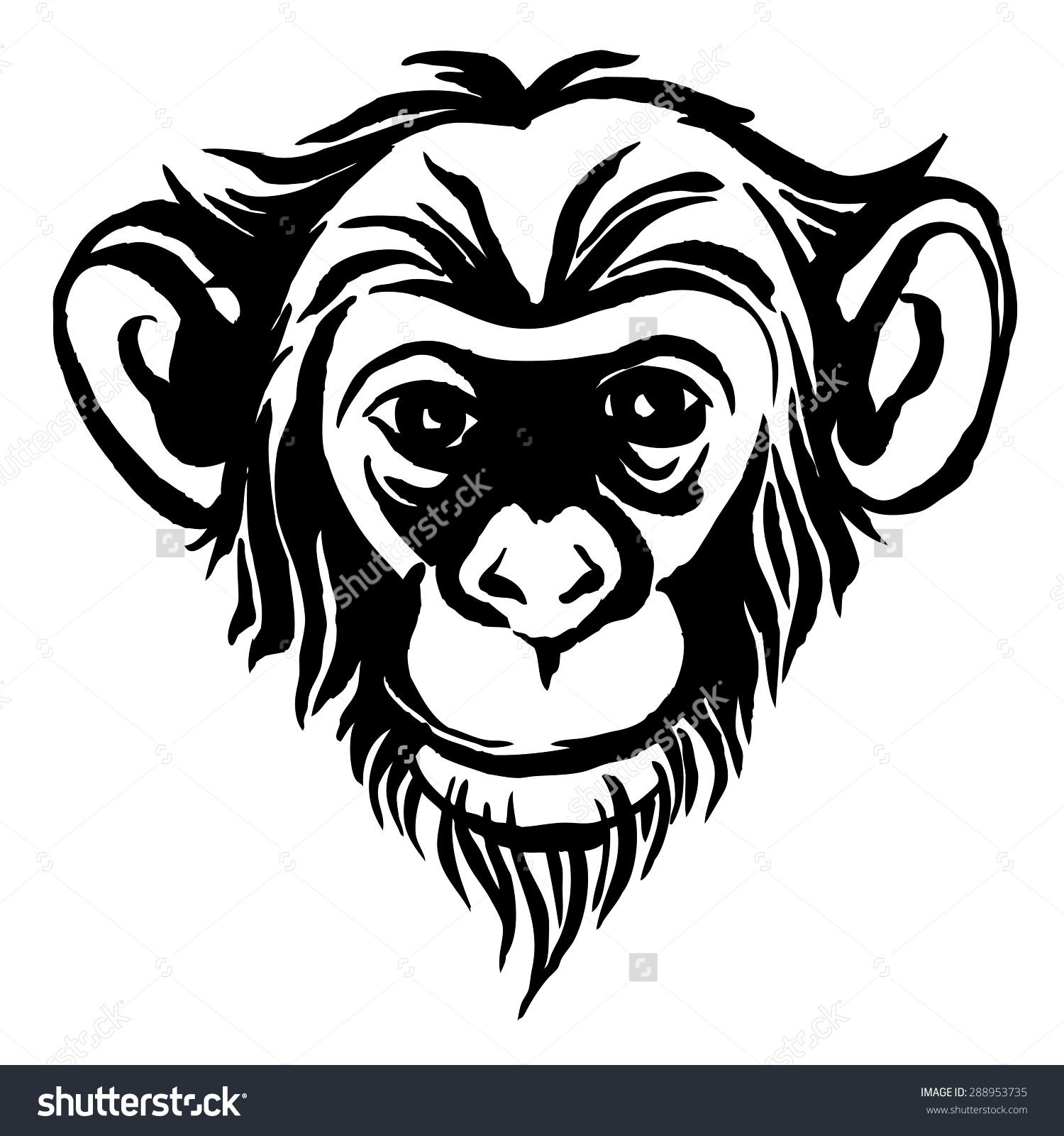 Bonobo clipart #1, Download drawings