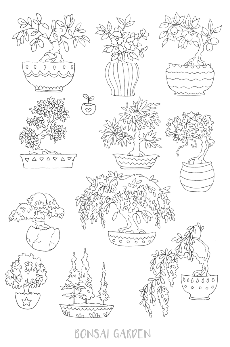 Bonsai Coloring Download Bonsai Coloring For Free 2019
