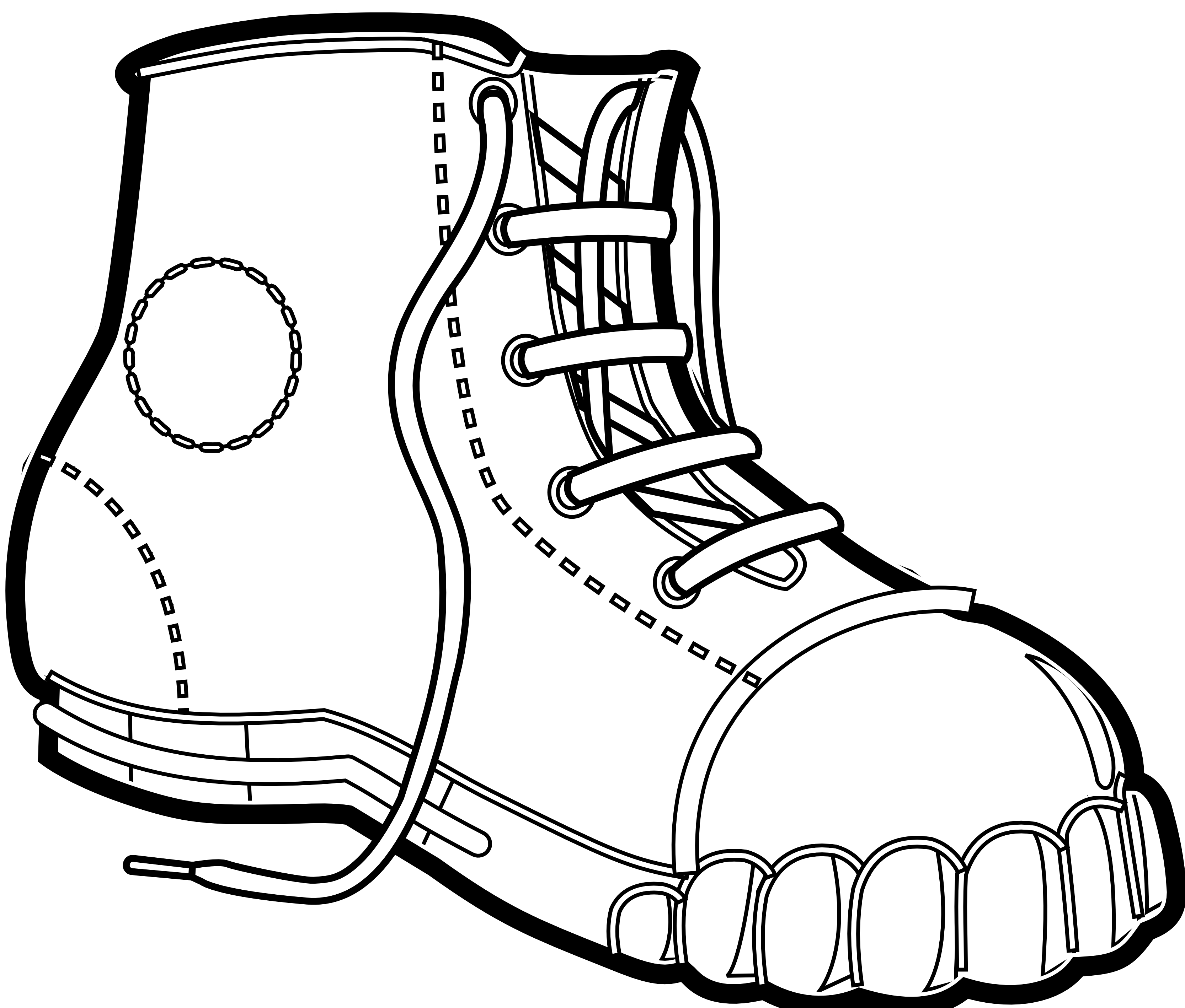 Boots coloring #3, Download drawings