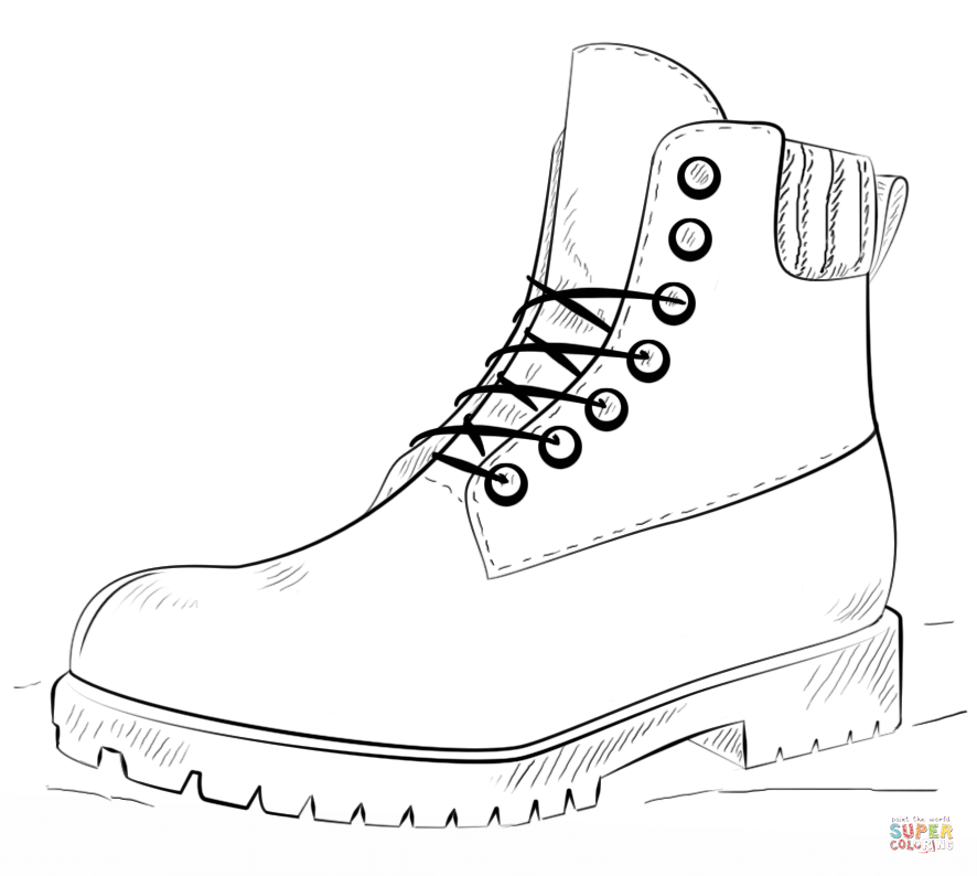 Boots coloring #9, Download drawings