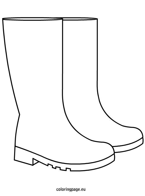 Boots coloring #1, Download drawings
