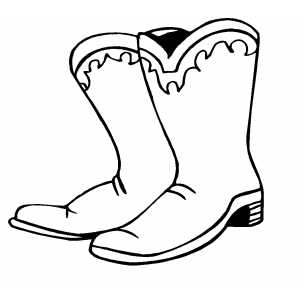 Boots coloring #10, Download drawings