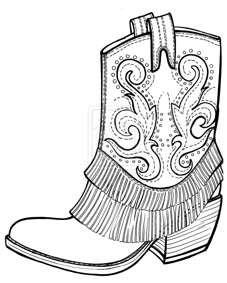 Boots coloring #8, Download drawings