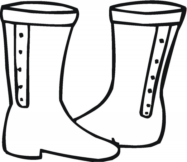 Boots coloring #5, Download drawings