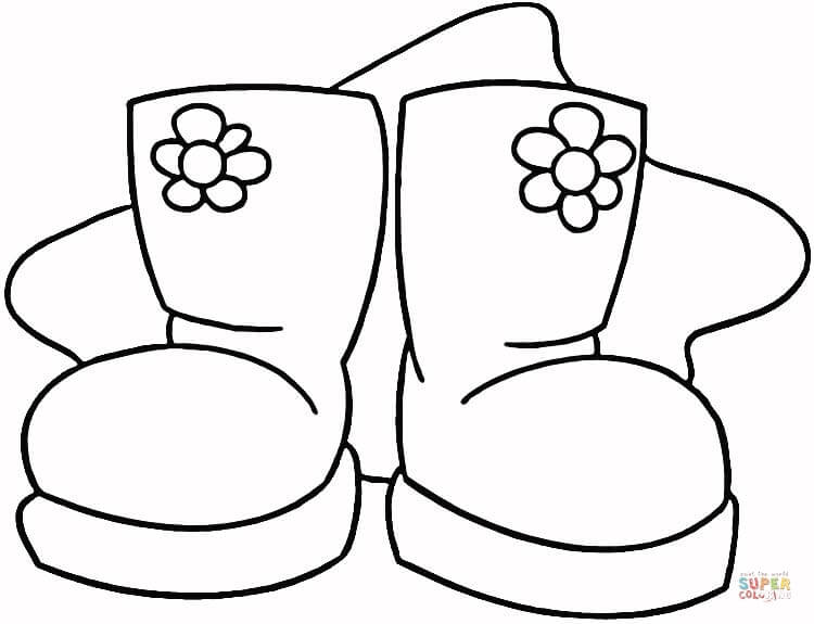 Boots coloring #6, Download drawings