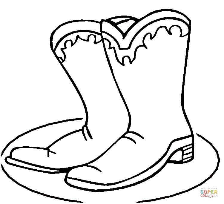 Boots coloring #16, Download drawings