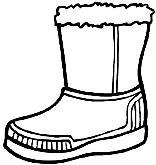 Boots coloring #19, Download drawings