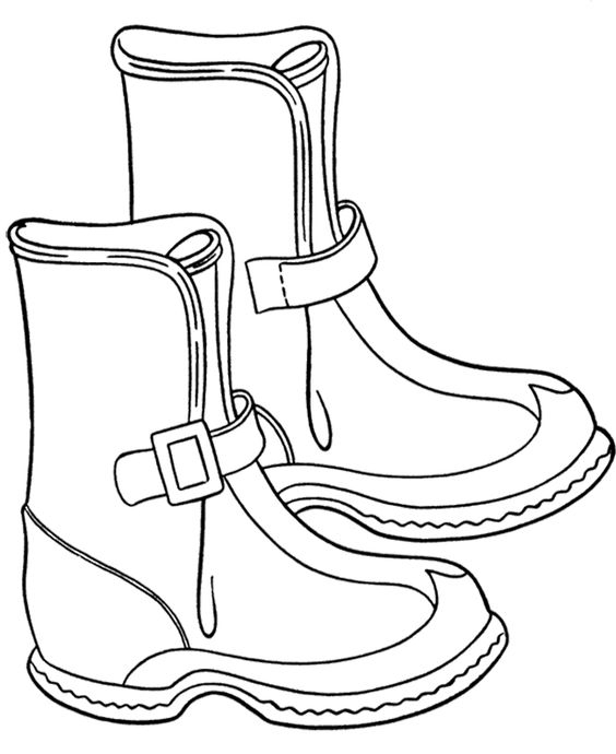Boots coloring #2, Download drawings