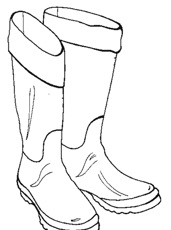 Boots coloring #15, Download drawings