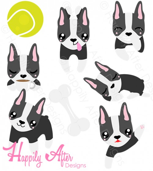 Boston Terrier clipart #1, Download drawings
