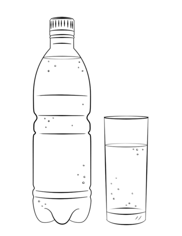 Bottle coloring #12, Download drawings
