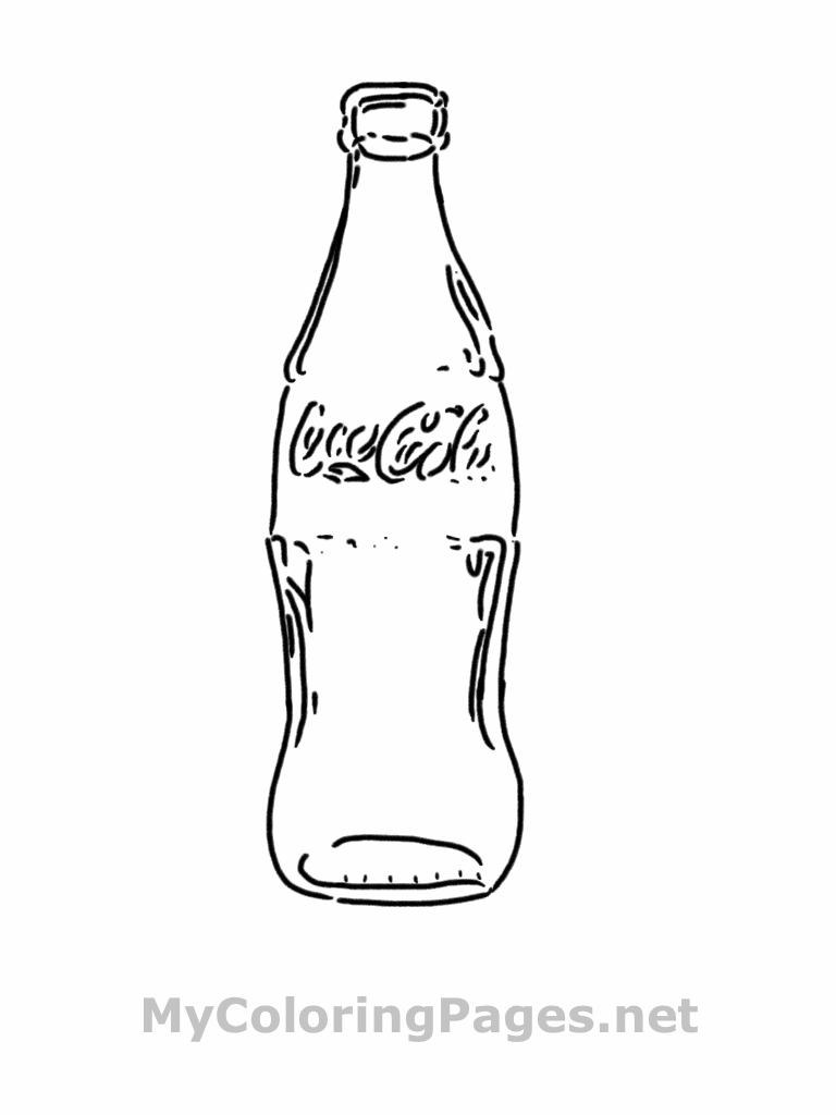 Bottle coloring #1, Download drawings