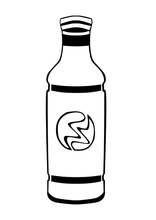 Bottle coloring #2, Download drawings