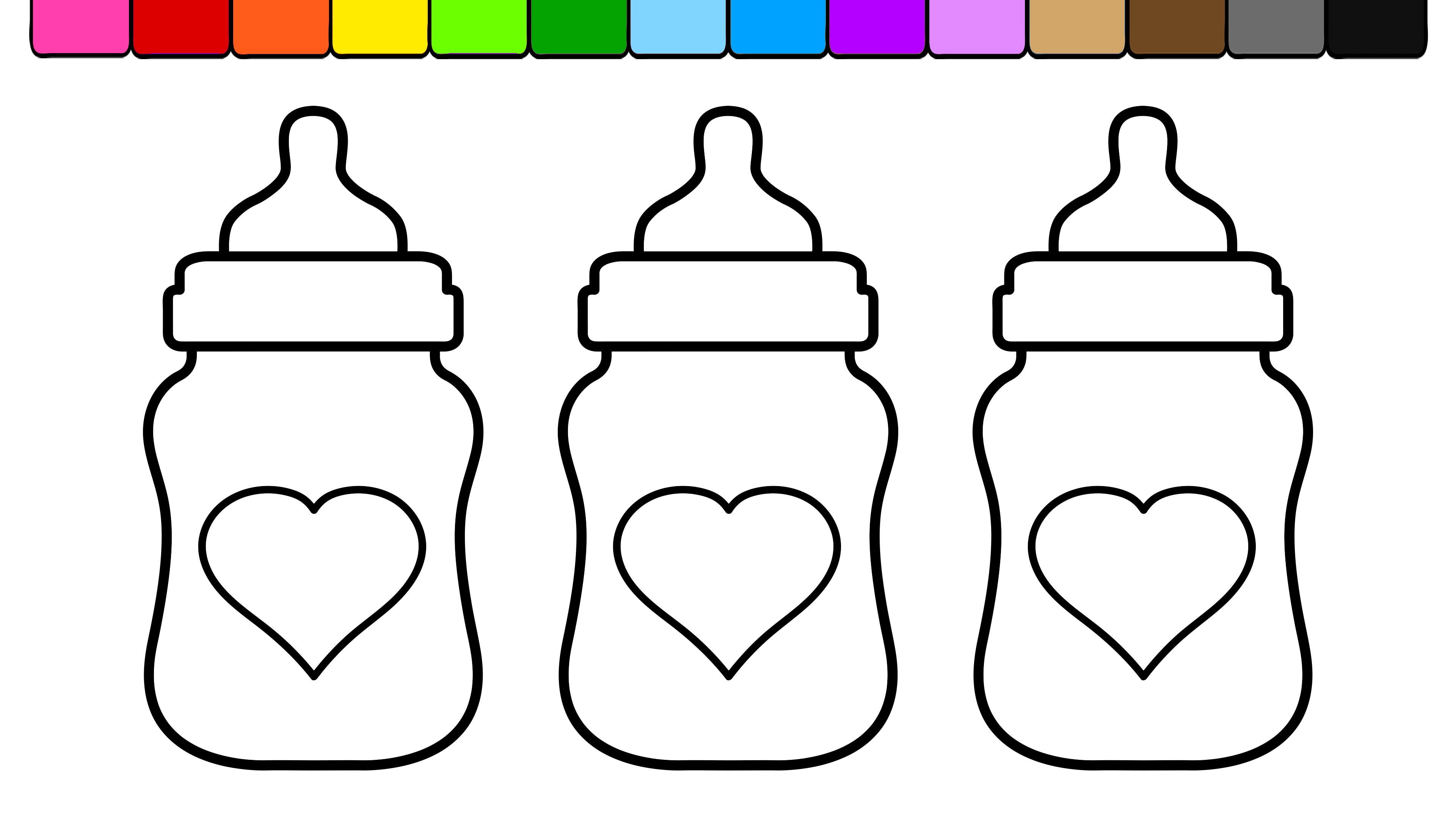 Bottle coloring #5, Download drawings