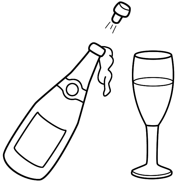 Bottle coloring #6, Download drawings