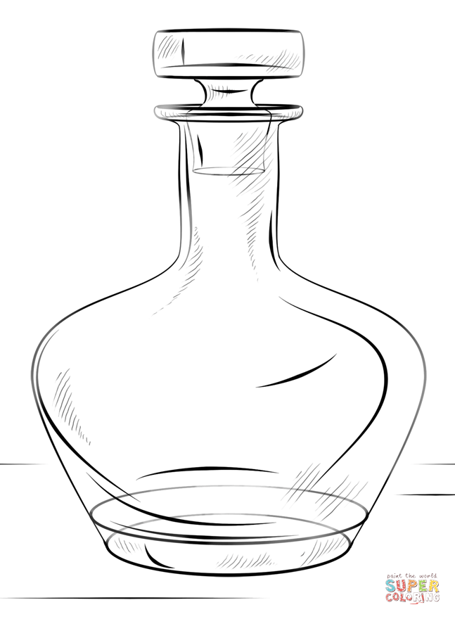 Bottle coloring #14, Download drawings