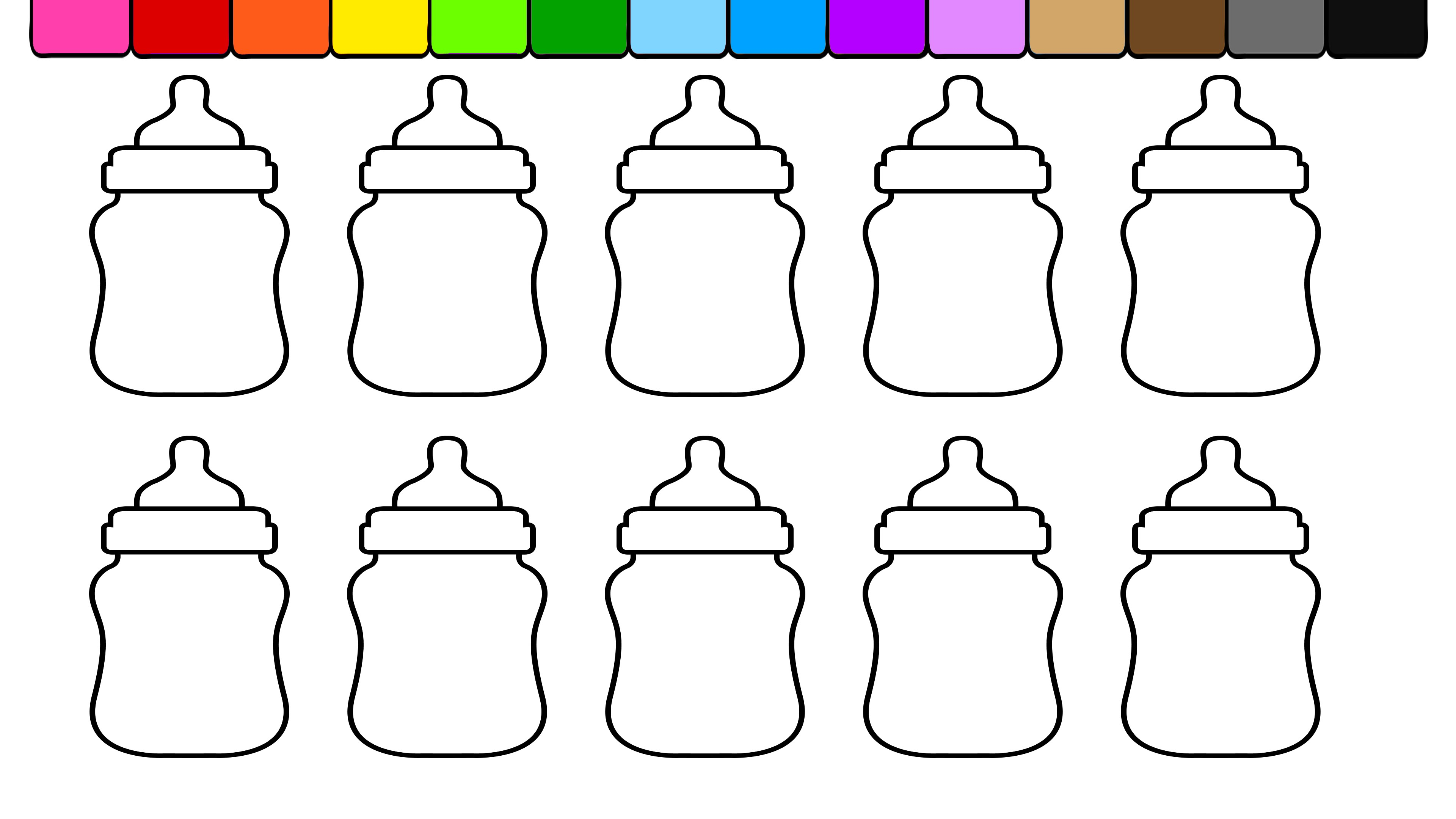 Bottle coloring #3, Download drawings