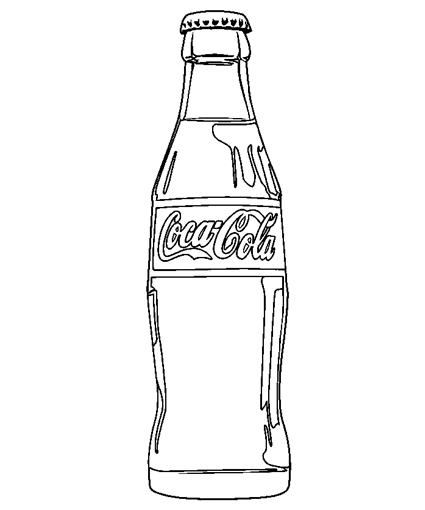 Bottle coloring #19, Download drawings