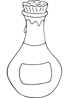 Bottle coloring #20, Download drawings