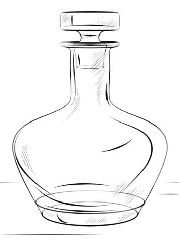 Bottle coloring #10, Download drawings