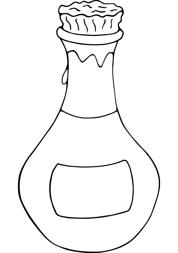 Bottle coloring #15, Download drawings