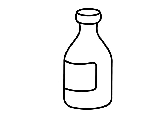 Bottle coloring #4, Download drawings