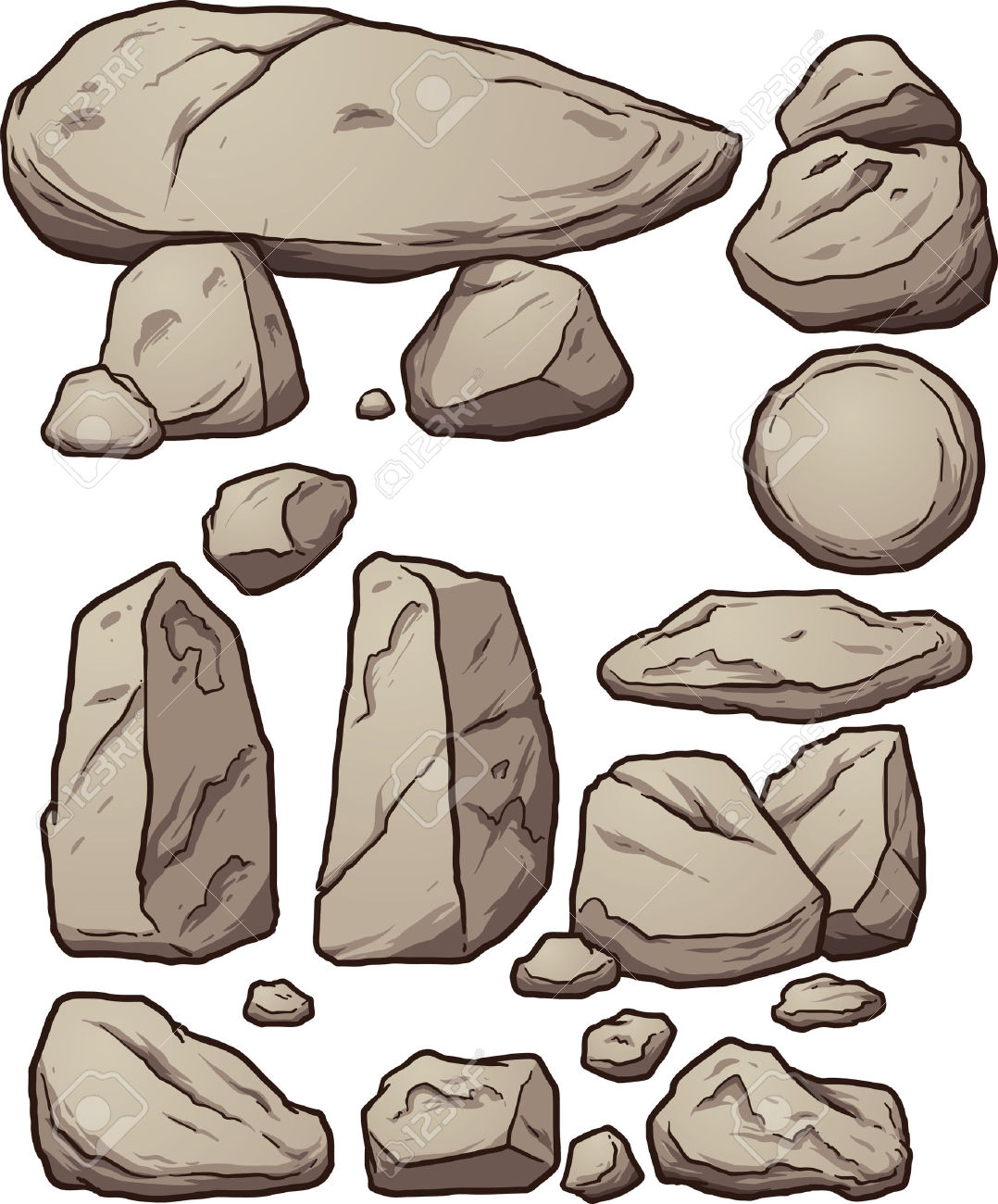 Boulders clipart #17, Download drawings
