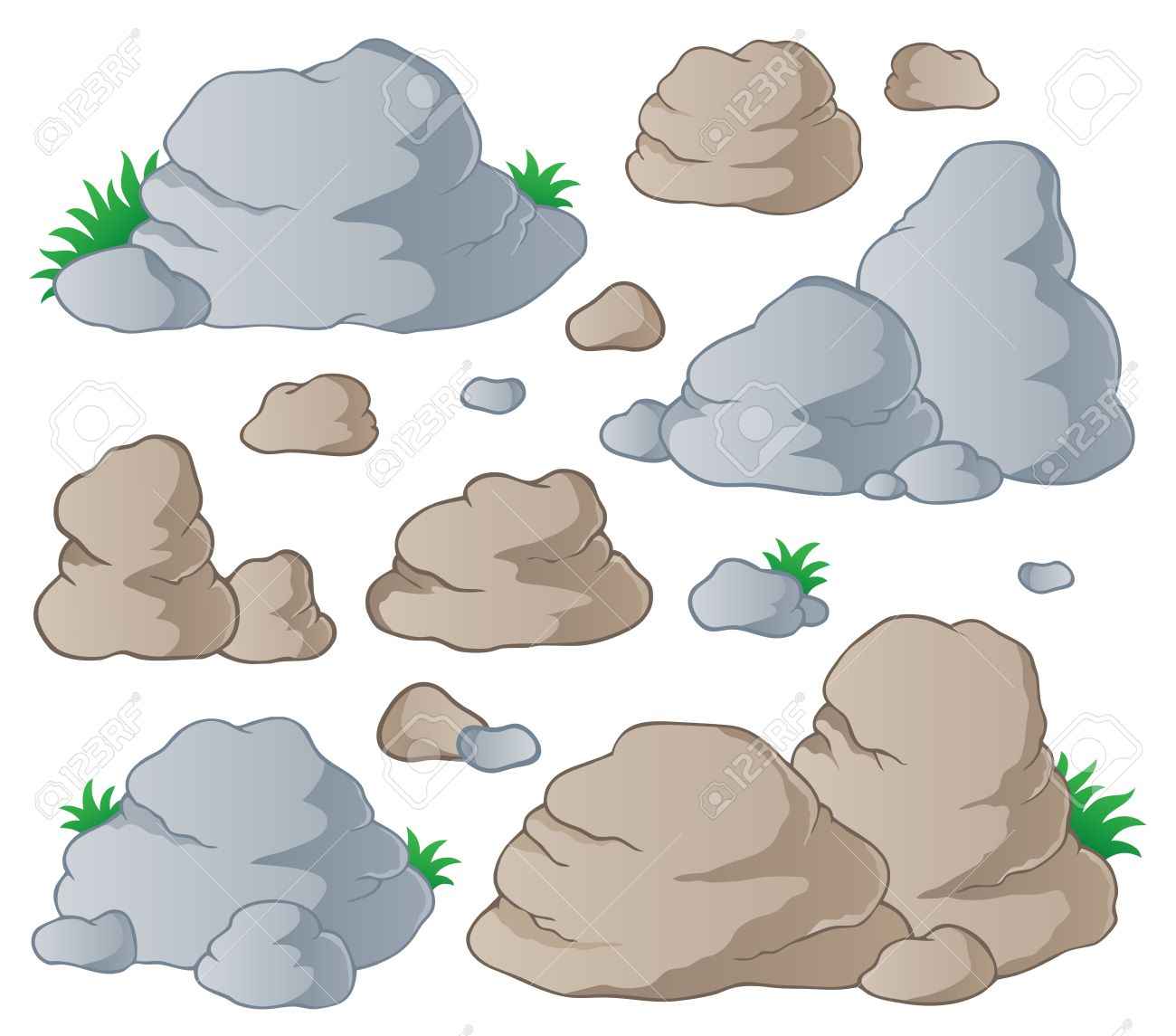 Boulders clipart #6, Download drawings