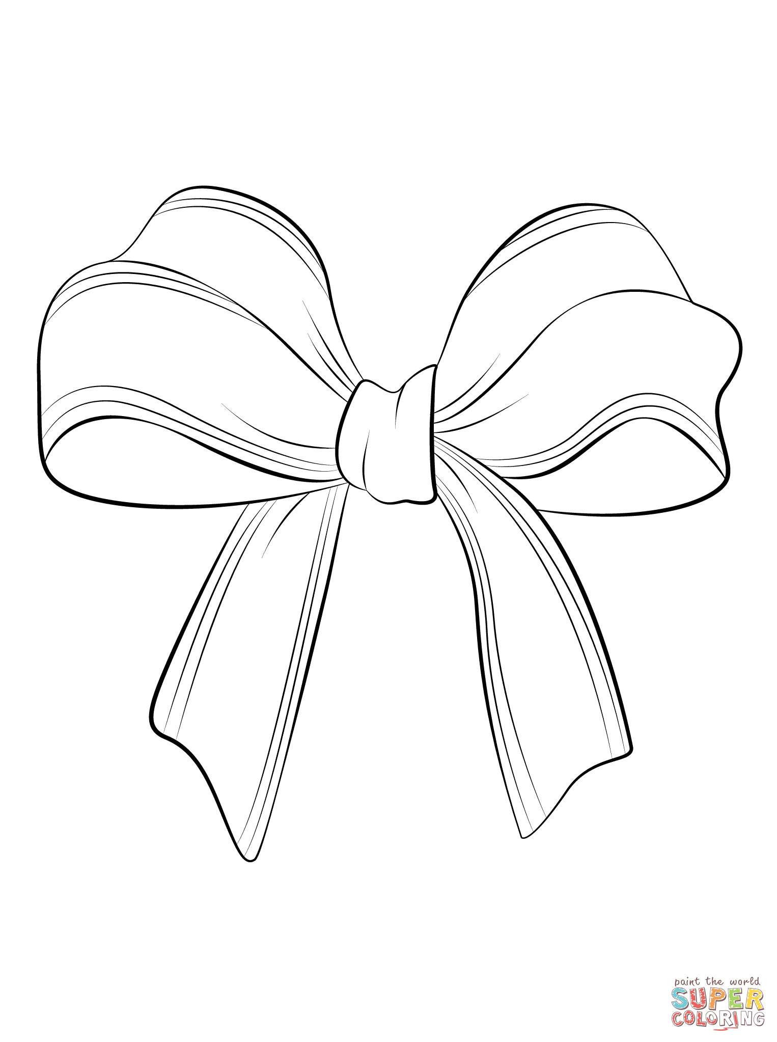 Bow coloring #12, Download drawings