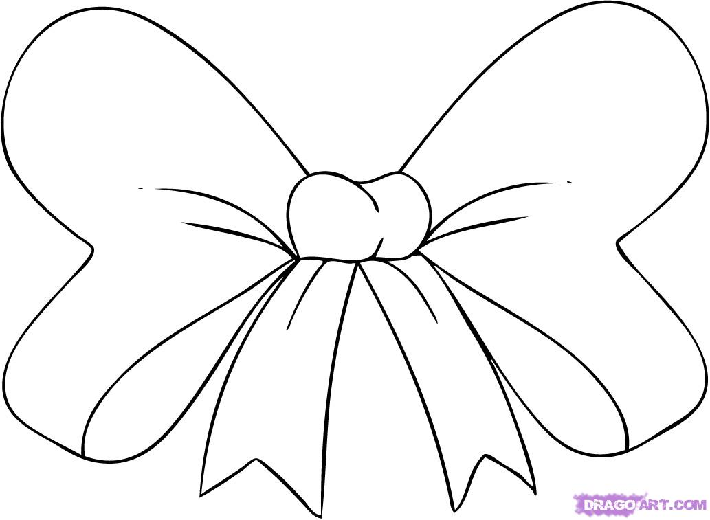 Bow coloring #1, Download drawings