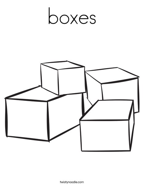 Box coloring #7, Download drawings