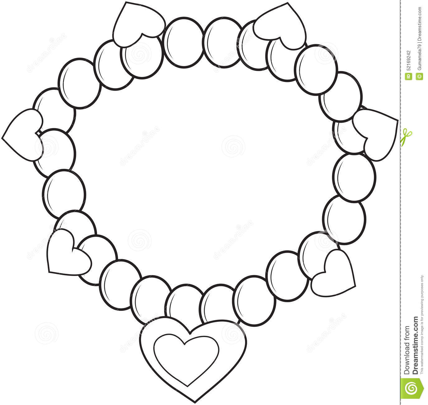 Bracelet coloring #18, Download drawings