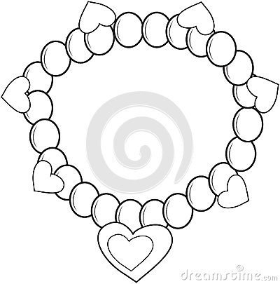 Bracelet coloring #14, Download drawings