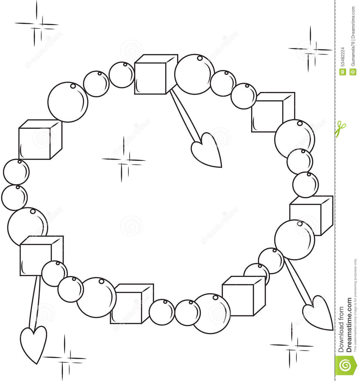 Bracelet coloring #19, Download drawings