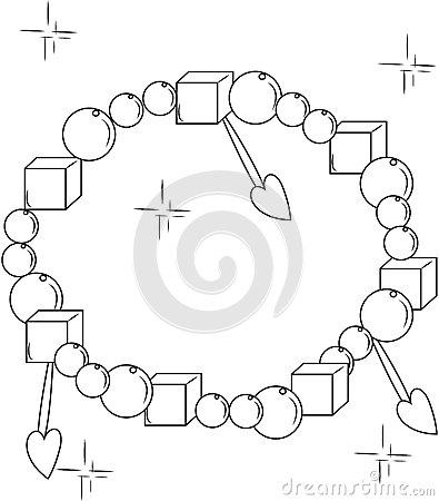 Bracelet coloring #20, Download drawings