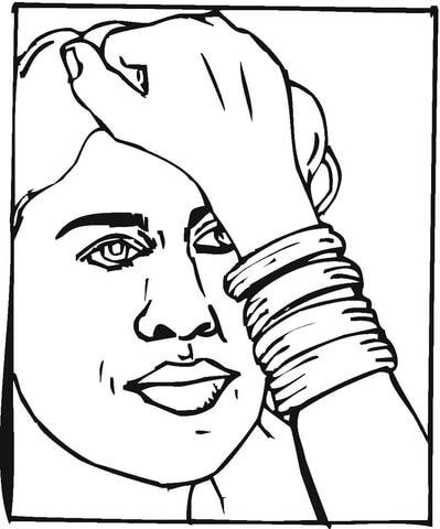 Bracelet coloring #3, Download drawings
