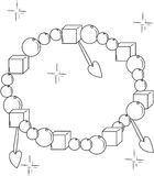Bracelet coloring #4, Download drawings