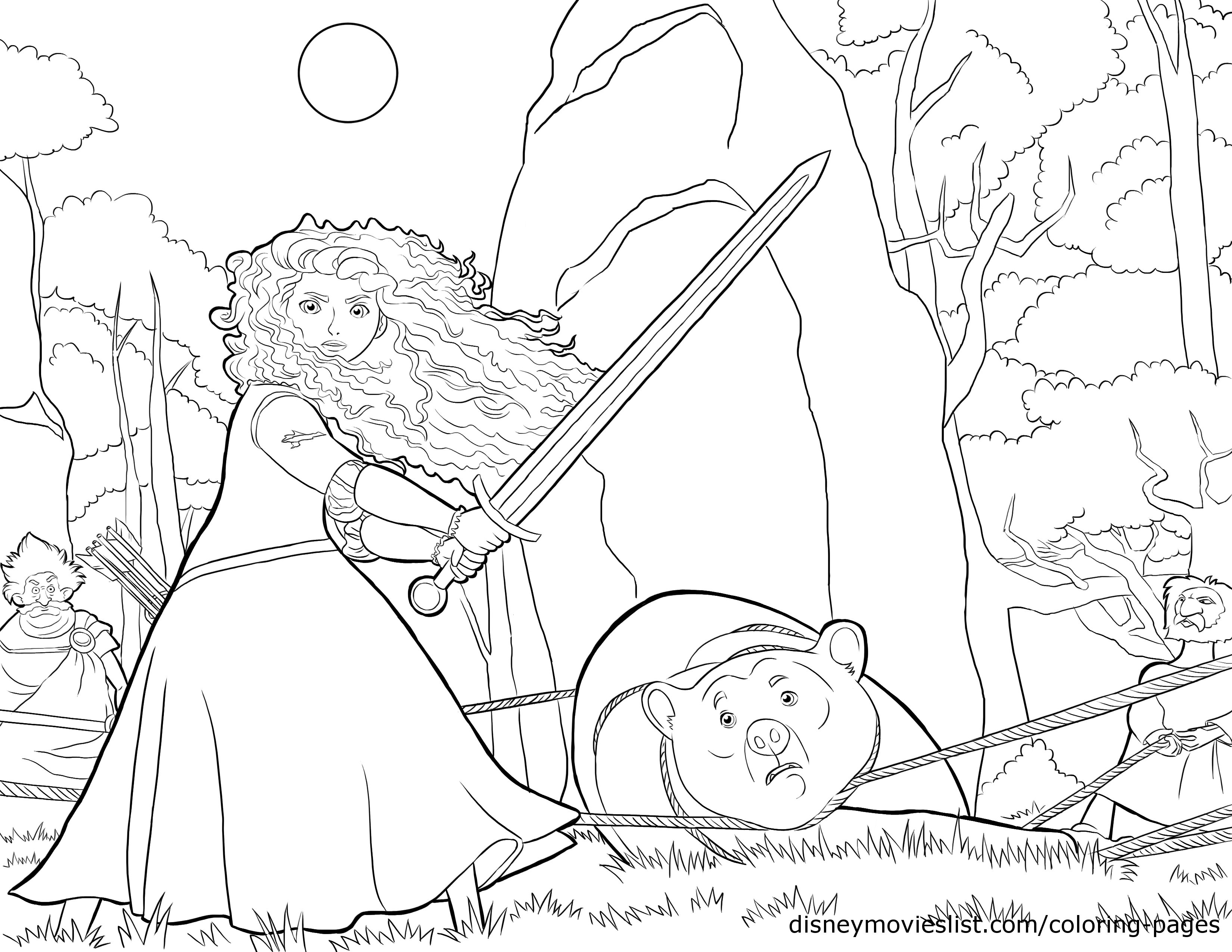 Brave (Movie) coloring #7, Download drawings