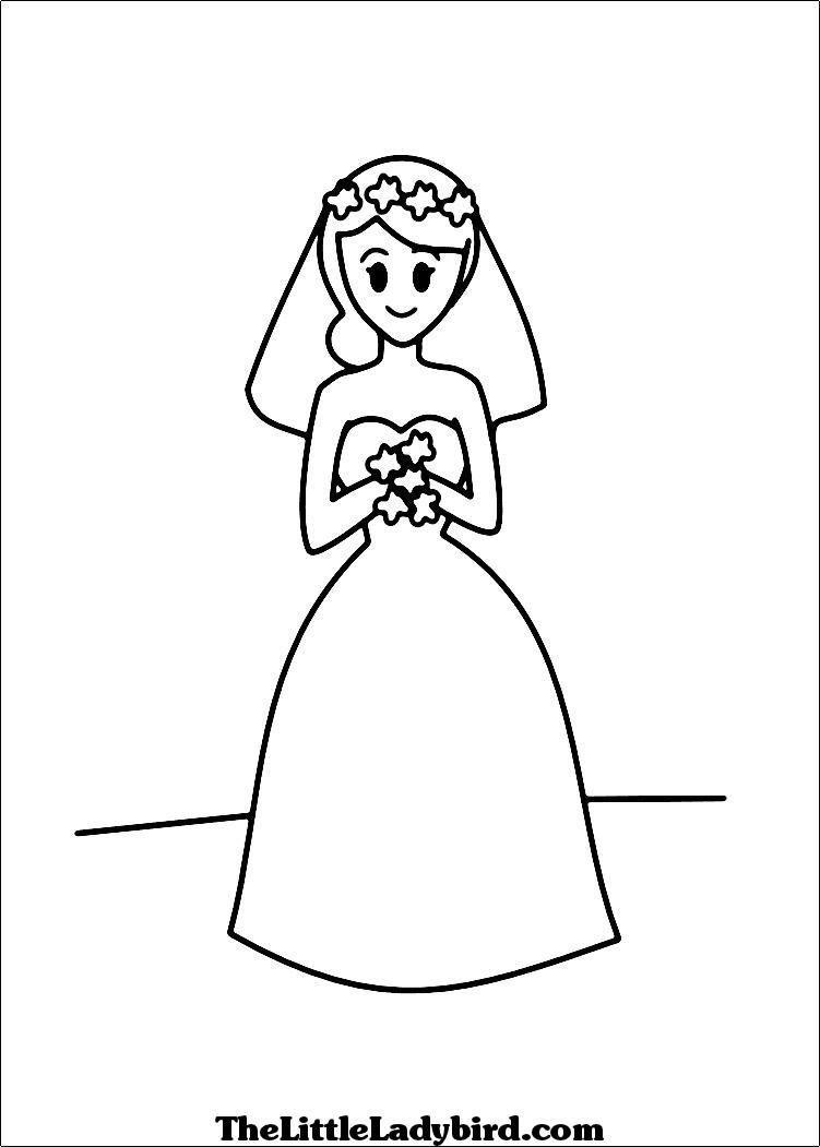 Bride coloring #3, Download drawings